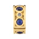 Created Sapphire & Diamond Stopper