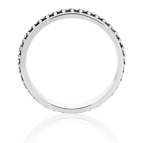 Oxidised Sterling Silver Stack Ring