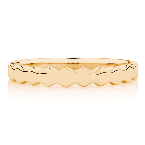 Honeycomb Stacker Ring in 10ct Yellow Gold