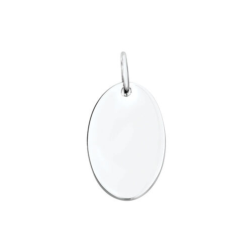 Engravable Large Oval Pendant in Sterling Silver