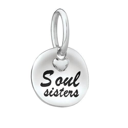 """Soul Sisters"" Mini Pendant in Sterling Silver"