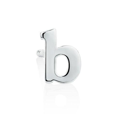 """""""B"""" Stud Earring in Sterling Silver"""