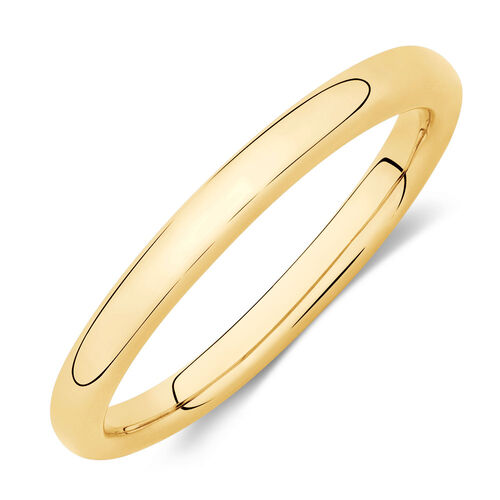 Plain Stacker Ring in 10ct Yellow Gold