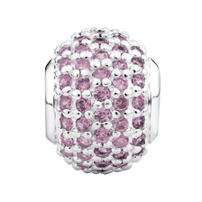 Online Exclusive - Pink Cubic Zirconia & Sterling Silver Pave Charm