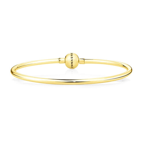"19cm (7.5"") Charm Bangle in 10ct Yellow Gold"