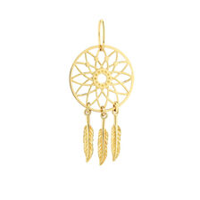 Large Dreamcatcher Mini Pendant in 10ct Yellow Gold