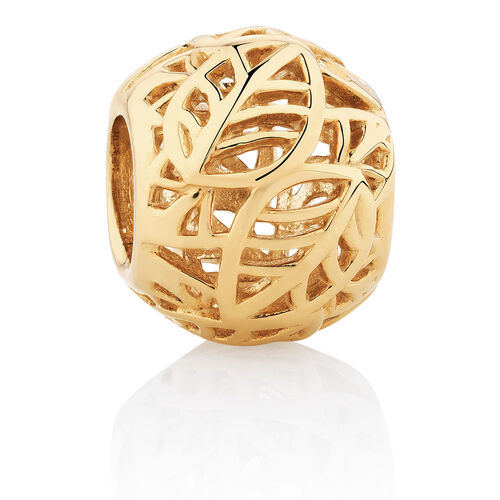 Leaf Pattern Charm in 10ct Yellow Gold