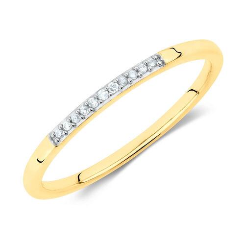 Diamond Set Stacker Ring in 10ct Yellow Gold