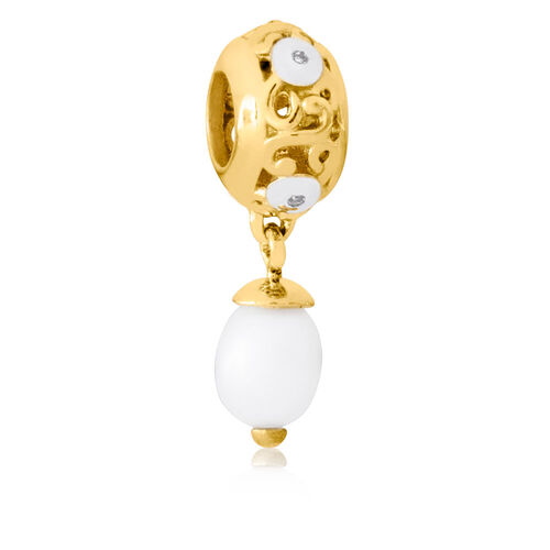 10ct Yellow Gold & Cultured Freshwater Pearl Charm