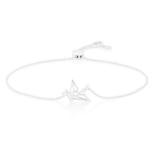 Origami Crane Bracelet in Sterling Silver