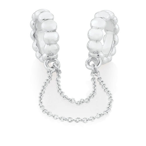 Wild Hearts Double Bubble Charm in Sterling Silver