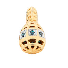 Enhanced Blue Diamond Set Marrakesh Drop Charm