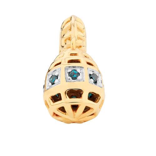 Enhanced Blue Diamond Set Marrakesh Drop Charm