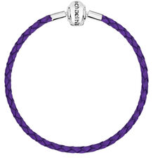 """Purple Leather 19cm (7.5"""") Charm Bracelet"""