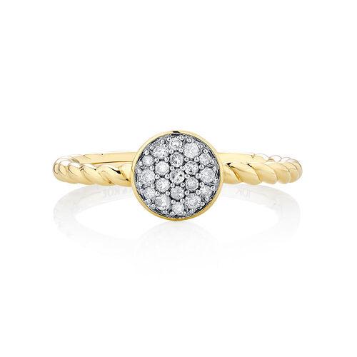 0.15 Carat TW Diamond Stacker Ring