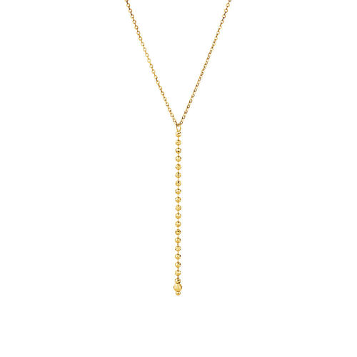 """45cm (18"""") Y Necklace in 10ct Yellow Gold"""