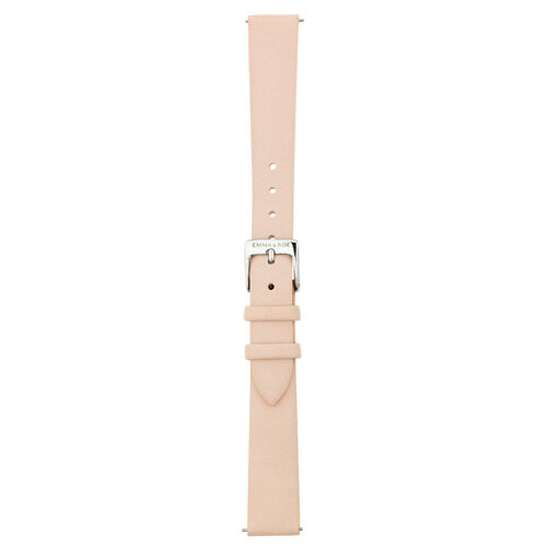 Small Watch Strap in Nude Leather & Stainless Steel