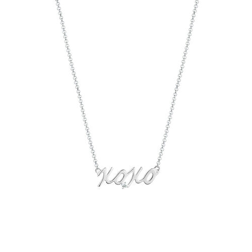 """XOXO"" Necklace in Sterling Silver"