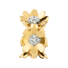 Diamond Set & 10ct Yellow Gold Flower Charm