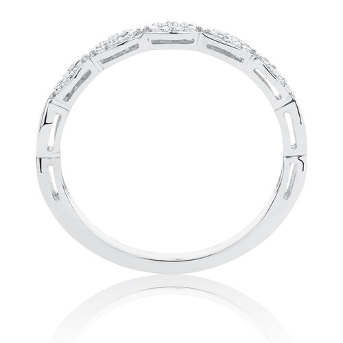 Diamond Set Stacker Ring in 10ct White Gold