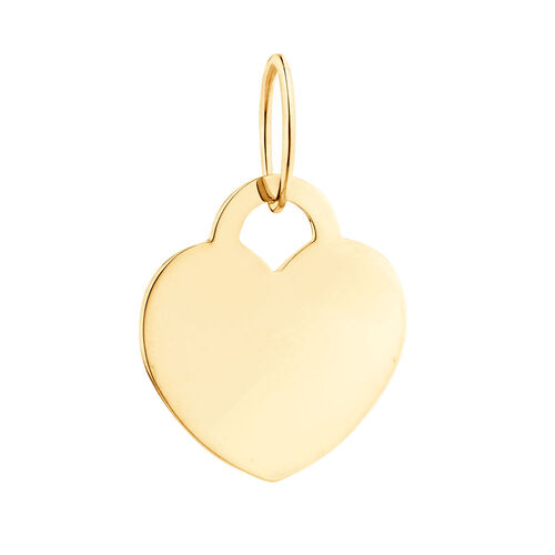 Large Heart Mini Pendant in 10ct Yellow Gold