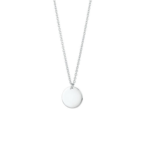 """45cm (18"""") Engravable Circle Necklace in Sterling Silver"""