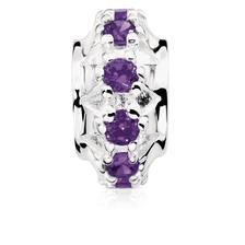 Purple Cubic Zirconia Charm