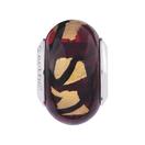 Brown & Gold Murano Glass Charm