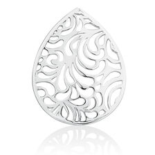 Filigree Coin Locket Insert in Sterling Silver