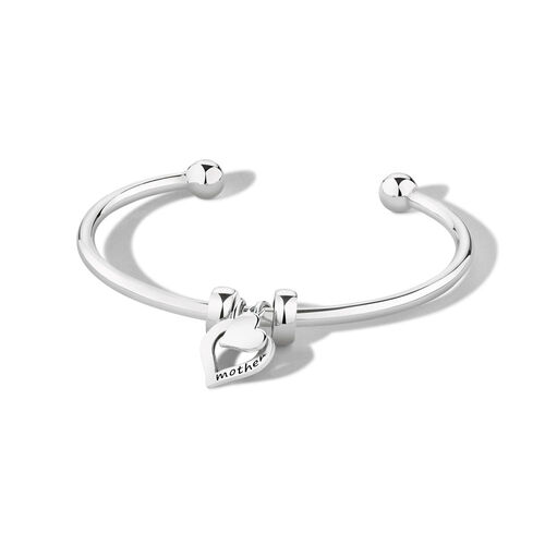 "Ready to Wear 21cm (8.5"") Cuff Bangle in Sterling Silver"