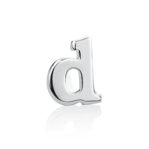 """D"" Initial Stud Earring in Sterling Silver"