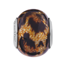 Leopard Print Murano Glass Charm