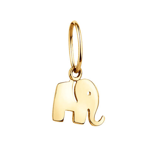 Elephant Mini Pendant with 10ct Yellow Gold