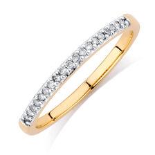Diamond Set 10ct Yellow Gold Stack Ring