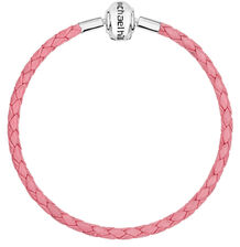 "Pink Leather 21cm (8.5"") Charm Bracelet"