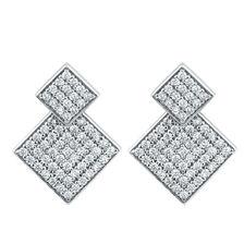 Stud Earrings & Earrings Enhancer Set with Cubic Zirconia in Sterling Silver