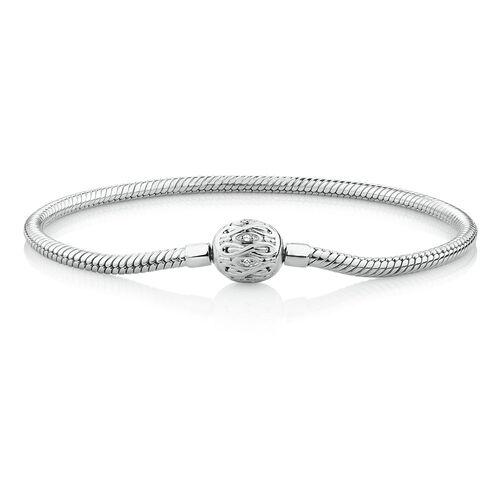 "19cm (7.5"") Infinity Clasp Bracelet in Sterling Silver"