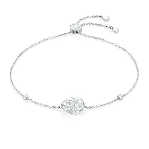 "25cm (10"") Bracelet with Cubic Zirconia in Sterling Silver"