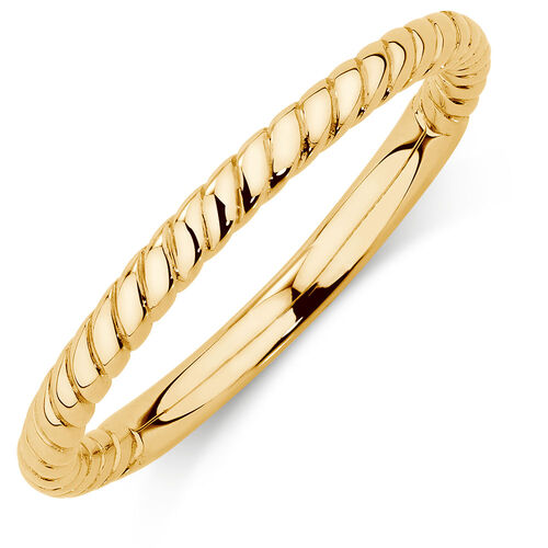 10ct Yellow Gold Rope Stack Ring