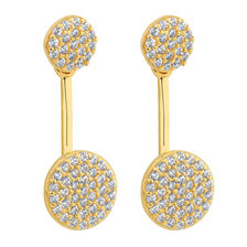 Earring and Earring Enhancer Set with Cubic Zirconia in 10ct Yellow Gold