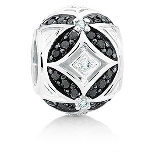 1/4 Carat TW White & Enhanced Black Diamond Marrakesh Charm