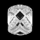 Black & White Cubic Zirconia Art Deco Charm