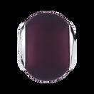 Purple Matte Murano Glass Charm