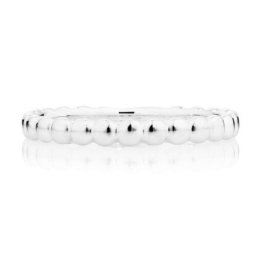 Sterling Silver Circle Pattern Stack Ring