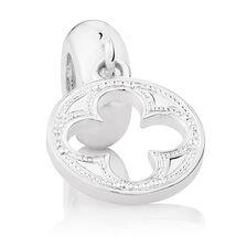 Sterling Silver Quatre Design Dangle Charm