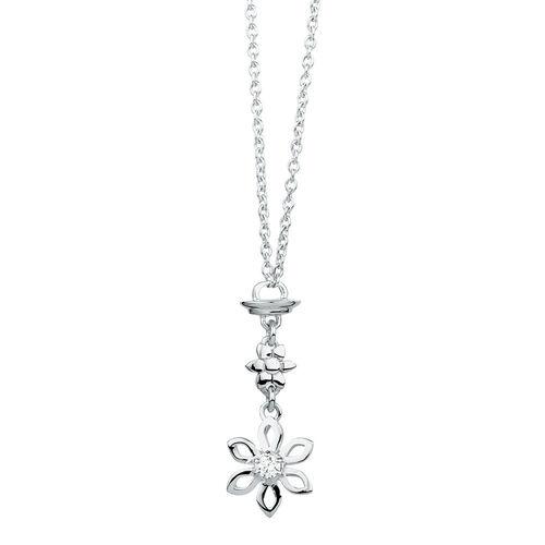 Sterling Silver Flower Pendulum Charm Pendant