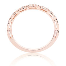 Diamond Set Stacker Ring in 10ct Rose Gold