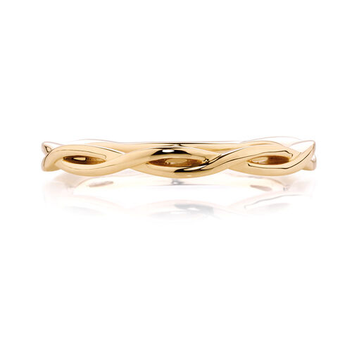 Crossover Stack Ring in 10ct Yellow Gold