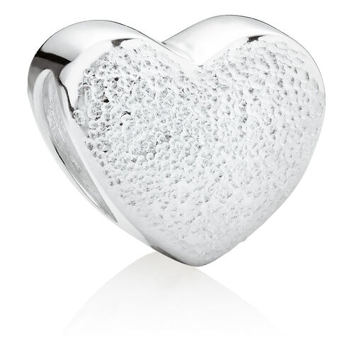 Double Heart 2 Charm Set in Sterling Silver