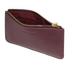 Clutch in Burgundy Leather